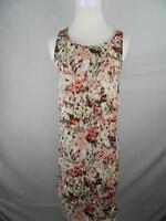 Lila Rose Size 6 Women's Dress Shift Abstract Print Lined Zipper Back Sleeveless