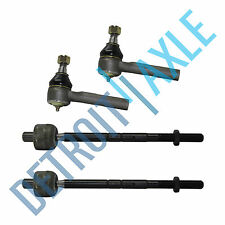 New 4pc Kit: Front Inner and Outer Tie Rod End Links for Ford Mazda Mercury