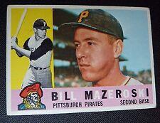 1960 Topps #55 57 yrs old BILL MAZEROSKI Pittsburgh Pirates EX NM Baseball Card