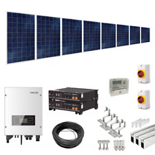 4kW Solar Power Kit for Tile/Slate Roofs (with 4.8kWh Hybrid Battery Storage)