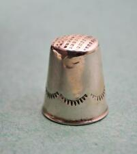 Vintage sterling silver Bright Cut thimble unmarked  23.5 x 19.5 mm N Res