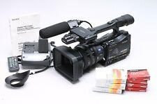 SONY HVR-Z7U HD DV CAMCORDER HDV + ZEISS LENS, HVR-MRC1 - VERY LOW HOURS - EX+!
