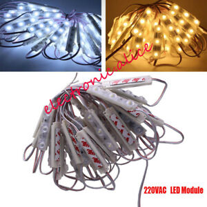 220V 50pcs/lot 2835 3led module sign Storefront lamp chip Strip Light Waterproof