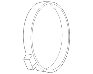 Genuine GM Outlet Duct Clamp 92068282
