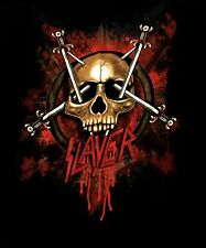 SLAYER cd lgo BLOOD SKULL SLAYER SWORDS Official SHIRT MED new