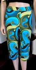 Talbots 2P Capri Pants Blue Green Cropped Petite XXS Summer NWOT