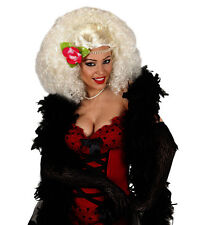 Ladies White Belle Burlesque Wig Moulin Rouge Baroque Saloon Girl 20s Fancy Dres