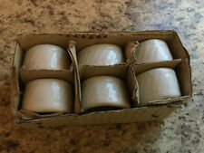 New listing 6 Ceramic Oval Napkin Rings Classic Shabby Chic Farmhouse Cottage Beach Nib