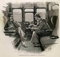 Sherlock Holmes and Watson : Sidney Paget: c1893 Art Print Suitable for Framing