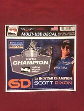 SCOTT DIXON 5X INDYCAR CHAMPION GANASSI RACING vintage racing sticker decal