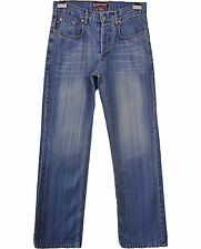 MOSCHINO Ladies Womens Vtg 90s Retro Casual Classic Straight Blue Jeans W32 Q58