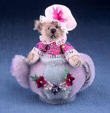 "Deb Canham'S ""I'M A Little Teapot"" Miniature Bear Sitting In Teapot-3 3/4"""