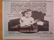 SMASHING PUMPKINS Cherub Rock 1993 UK Press ADVERT 12x8 inches