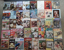 Lot of 40  Mixed CRAFTS Books & Patterns  (e)