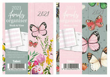 2021 A5 Week To View Organiser Diary Butterfly Hardback  Magnetic Planner 2092