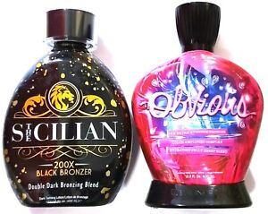 The Sicilian 200x Bronzer & Designer Skin Obvious 18x Bronzer Tanning Bed Lotion