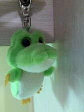 "Aurora Yoohoo & Friends Gree Alligator Keychain Plush 3.5"" with metal clip"