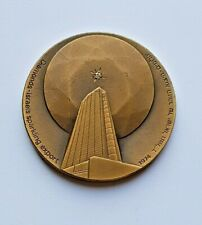 Israel State Bronze Medal Sparkling Export w/ Real Natural Diamond