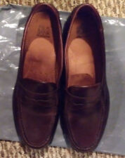 JOS A BANK MENS SIZE 10.5 M BROWN LEATHER PENNY LOAFERS DRESS SHOES