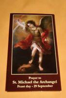 10 ST SAINT  MICHAEL ARCHANGEL Holy Cards Laminated NEW  Catholic ANGELS