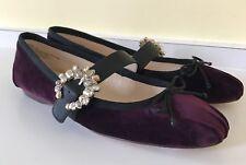 New NINE WEST Women's Xandi Fabric Ballet Flats Jeweled Buckle Closure Size: 7