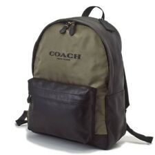 NWT Coach Campus Backpack in Nylon & Leather 71674 Surplus/Black (Olive Green)