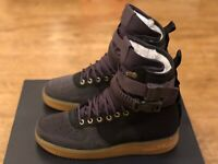 NIKE AIR FORCE 1 SF AF1 HIGH PRM SHERPA BLACK UK8.5 EUR43 US9.5 NEW BV0130 001