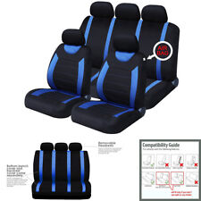 9Pcs Car Seat Cover Set Universal For Interior Accessories 100% Polyester Fabric