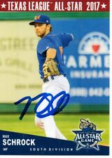 Max Schrock 2017 Midland Rockhounds Texas League All Star Game Signed Card