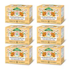 Tadin Tea Manzanilla con Miel / Chamomile Honey. 24 Bags. 0.84 Oz. Pack of 6