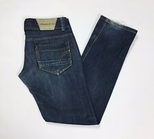 made for loving jeans donna w30 tg 44 vita bassa slim blu usati straight T2845