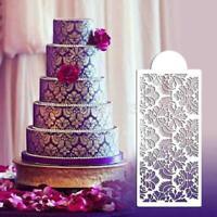Baking Tool Side Decor Mould Damask Lace Flower Border Fondant Cake Stencil Mold