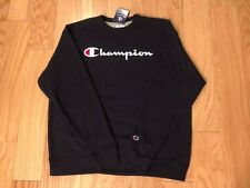Champion Crewneck Sweater Navy Blue Men's XL NWT Spellout