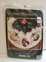 Tree Skirt Dimensions Cross Stitch Mystical Angels Gold Collection Christmas