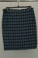 Tahari Womens ASL Houndstooth Knee-Length Pencil Skirt Blue 10