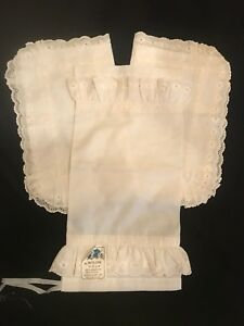 FAB! VTG Set of 3 Sufolla inc NY Switzerland Cotton Blend Boudoir Pillowcases