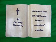 8.25 Resin In Loving Memory Resin Memorial Book Cemetery, Grave Decoration