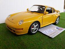 PORSCHE 911 Turbo jaune au 1/18 ANSON voiture miniature de collection sans boite