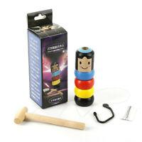 Magische Unsterblicher Daruma Hölzerner Störrische Unzerbrechliche Holzspielzeug