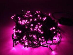 14m Lichterkette LEDs Tannenbaum  Weihnachten  Ihnen/Außen Beleuchtung PINK