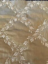 """Silk Embroidery Quilted Taupe 3 Yards Width 54"""""""