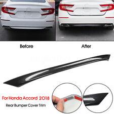 42.9'' Rear Bumper Lip Diffuser Cover Trim Carbon Fiber For Honda Accord 2018