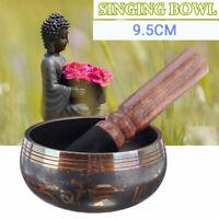 9.5CM Tibetan Singing Bowl W/ Wooden hammer Chakra Yoga Meditation Relaxation