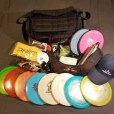 Lot of 10 Disc Golf discs With New Dynamic Disc Commander Bag and lots of extras