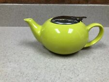 CERTIFIED International Tea Pot With Difuser Stainless Steel Top Lime Green