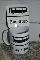 Bus Stop/Mug Stop Mug and Coaster Set