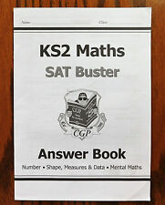 KS2 SAT Buster ANSWER BOOK Mental Maths Number Shape Measures Data Key Stage 2