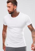 Lacoste 100% Cotton Men's White Crew Neck Slim Fit Undershirt T-shirt