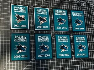 8 San Jose Sharks Championship Arena Banners Vinyl Decals Man Cave Display