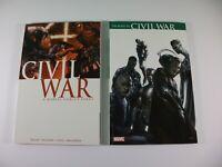 Lot of 2 Marvel Civil War & Civil War: Road To Civil War TPB First Printing 2007